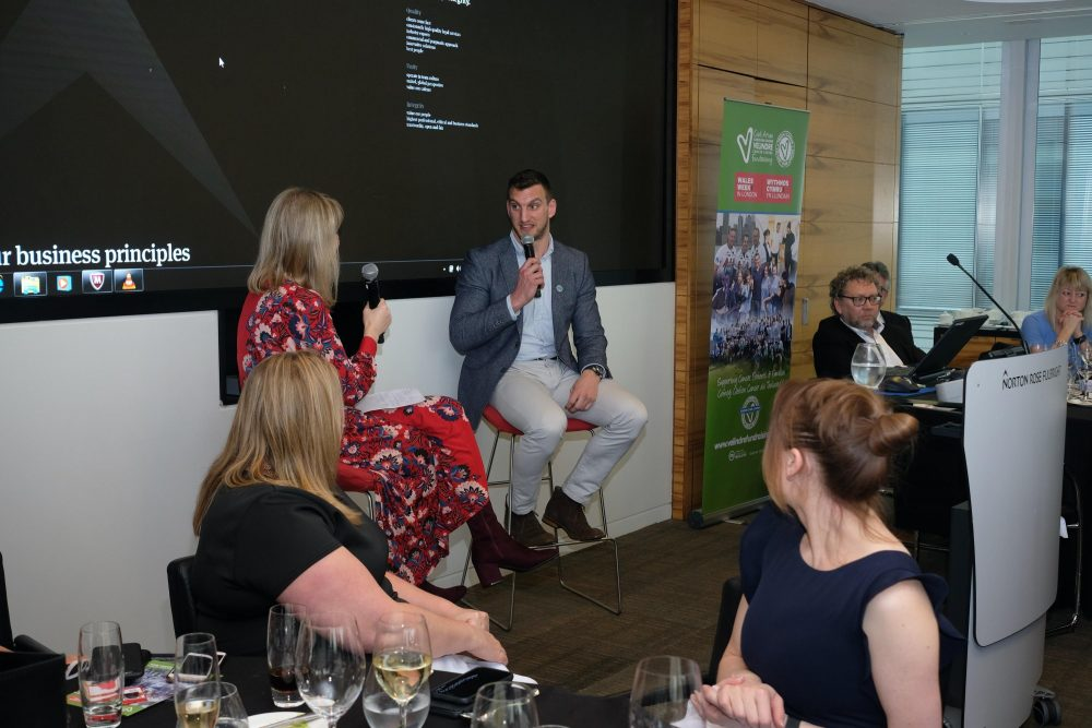 Lunch with Sam Warburton for Velindre